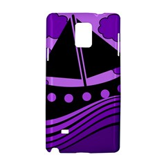 Boat - purple Samsung Galaxy Note 4 Hardshell Case