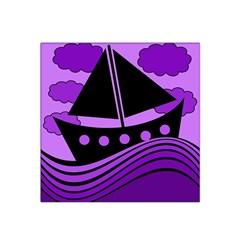 Boat - purple Satin Bandana Scarf