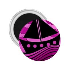 Boat - magenta 2.25  Magnets