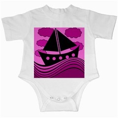 Boat - magenta Infant Creepers