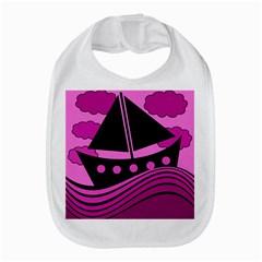 Boat - magenta Bib