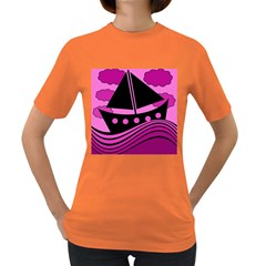 Boat - magenta Women s Dark T-Shirt