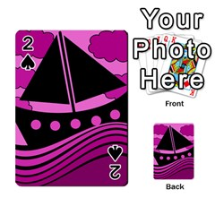 Boat - magenta Playing Cards 54 Designs