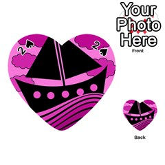Boat - magenta Playing Cards 54 (Heart)