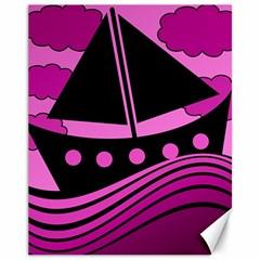 Boat - magenta Canvas 11  x 14