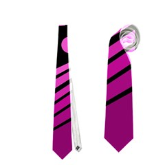 Boat - magenta Neckties (Two Side)