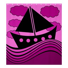 Boat - magenta Shower Curtain 66  x 72  (Large)