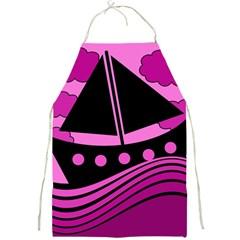 Boat - magenta Full Print Aprons