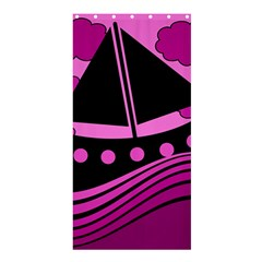 Boat - magenta Shower Curtain 36  x 72  (Stall)