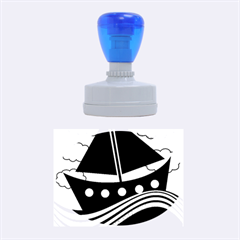 Boat   Magenta Rubber Oval Stamps