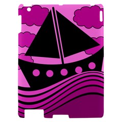 Boat - magenta Apple iPad 2 Hardshell Case
