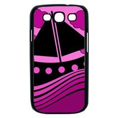 Boat - magenta Samsung Galaxy S III Case (Black)