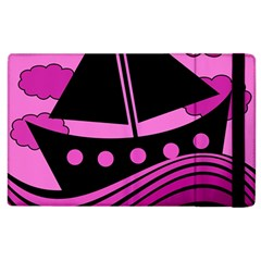 Boat - magenta Apple iPad 2 Flip Case