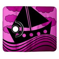 Boat - magenta Samsung Galaxy Note II Flip 360 Case