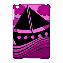 Boat - magenta Apple iPad Mini Hardshell Case (Compatible with Smart Cover)