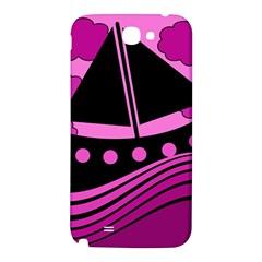 Boat - magenta Samsung Note 2 N7100 Hardshell Back Case