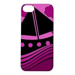 Boat - magenta Apple iPhone 5S/ SE Hardshell Case