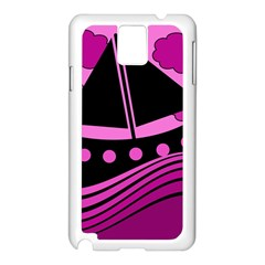 Boat - magenta Samsung Galaxy Note 3 N9005 Case (White)