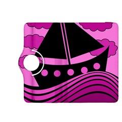 Boat - magenta Kindle Fire HDX 8.9  Flip 360 Case