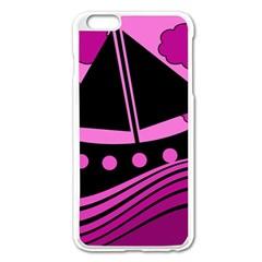 Boat - magenta Apple iPhone 6 Plus/6S Plus Enamel White Case