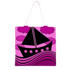 Boat - magenta Grocery Light Tote Bag