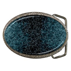 Polygonal And Triangles In Blue Colors  Belt Buckles