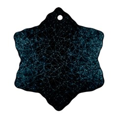 Polygonal And Triangles In Blue Colors  Snowflake Ornament (2-Side)