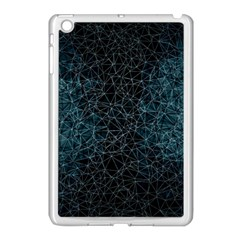 Polygonal And Triangles In Blue Colors  Apple Ipad Mini Case (white)