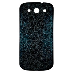 Polygonal And Triangles In Blue Colors  Samsung Galaxy S3 S III Classic Hardshell Back Case