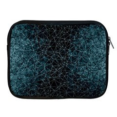 Polygonal And Triangles In Blue Colors  Apple iPad 2/3/4 Zipper Cases