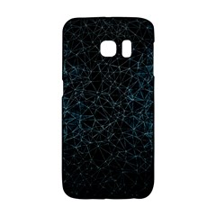 Polygonal And Triangles In Blue Colors  Galaxy S6 Edge