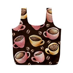 Coffee House Barista  Full Print Recycle Bags (M)