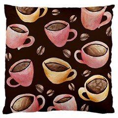 Coffee House Barista  Large Flano Cushion Case (Two Sides)