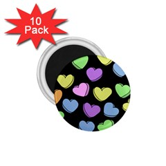Valentine s Hearts 1 75  Magnets (10 Pack)