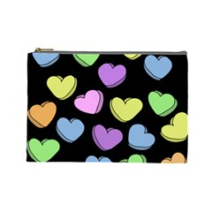 Valentine s Hearts Cosmetic Bag (large)