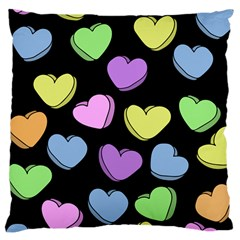 Valentine s Hearts Large Cushion Case (Two Sides)
