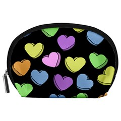 Valentine s Hearts Accessory Pouches (Large)
