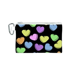 Valentine s Hearts Canvas Cosmetic Bag (S)