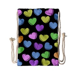 Valentine s Hearts Drawstring Bag (Small)