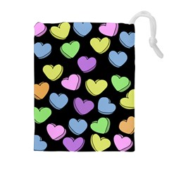 Valentine s Hearts Drawstring Pouches (extra Large)