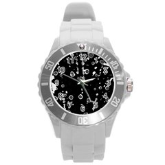 Old love Round Plastic Sport Watch (L)