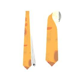 Orange decor Neckties (One Side)
