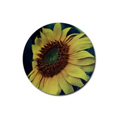 Sunflower Photography  Rubber Coaster (Round)