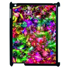 Pink Floral Abstract Apple iPad 2 Case (Black)