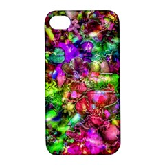 Pink Floral Abstract Apple iPhone 4/4S Hardshell Case with Stand
