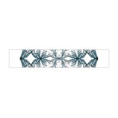 Mandala Blue And White Flano Scarf (Mini)