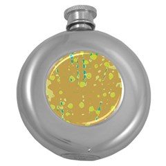 Digital art Round Hip Flask (5 oz)