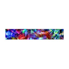 Blue Floral Abstract Flano Scarf (Mini)