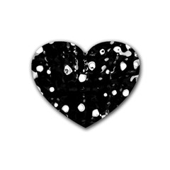 Black dream  Rubber Coaster (Heart)