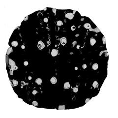 Black dream  Large 18  Premium Flano Round Cushions
